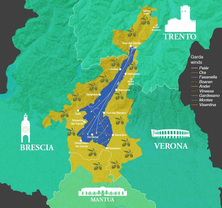 territory of garda dop olive oil
